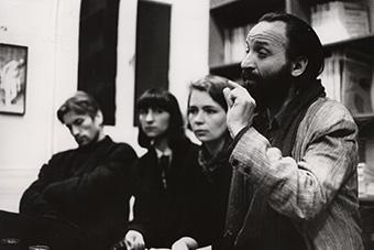Pierwsza wizyta Anatolija Wasiljewa w Ośrodku Grotowskiego w kwietniu 1990