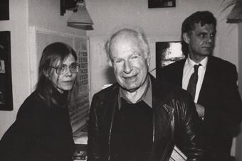 Magdalena Złotowska, Peter Brook i Zbigniew Osiński w Ośrodku Grotowskiego