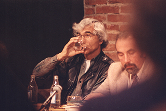 Eugenio Barba i Janusz Degler w Ośrodku Grotowskiego we wrześniu 1993