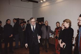 Jerzy Grotowski w Ośrodku Grotowskiego 10 stycznia 1997, fot. Adam Hawałej