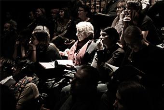 """Konferencja """"Praktyki teatralne Wsiewołoda Meyerholda"""", fot. Jacek Świątek."""