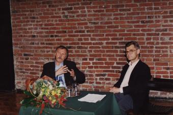 Leszek Mądzik i Zbigniew Osiński w czasie spotkania 28 października 2000
