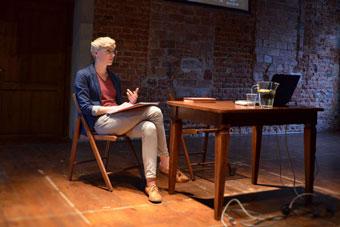 """Olga Drygas, konferencja """"Wielka? Reforma? Teatru?"""", Wrocław 8 czerwca 2013, fot"""