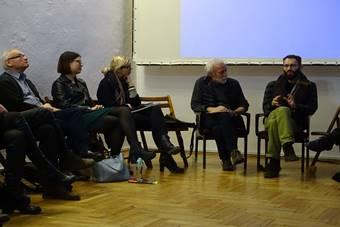 """""""Teatr dokumentalny"""", warsztaty grup; 20 stycznia 2018. Fot. Henryk Mazurkiewicz"""