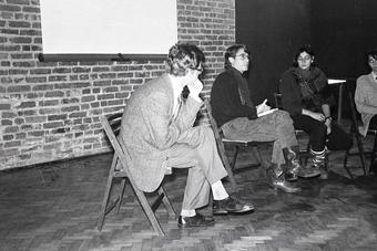 Zbigniew Osiński i Torgeir Wethal w Ośrodku Grotowskiego, styczeń 1991