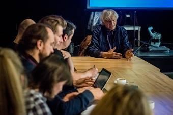 """""""Forum reżyserów"""", na zdjęciu Eugenio Barba; 21–25 paździer"""