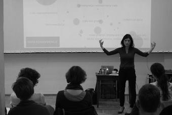 """""""Somatechnologie"""", seminarium Agnieszki Jelewskiej; 8 czerwca 2015. Fot. Tob"""