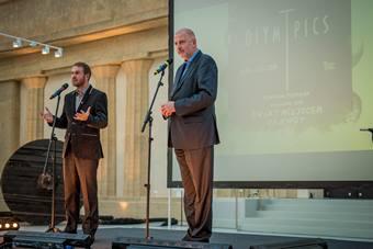 Inauguracja Olimpiady Teatralnej, od lewej: Jarosław Fret, Rafał Dutkiewicz;