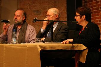 Richard Gough, Marvin Carlson i Janelle Reinelt w czasie konferencji