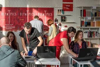 Barbara, biuro festiwalowe. Fot. Maciej Zakrzewski