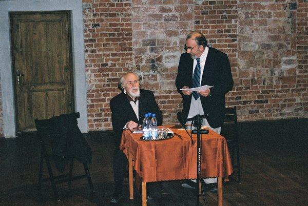 Od lewej: Ludwik Flaszen, Janusz Degler