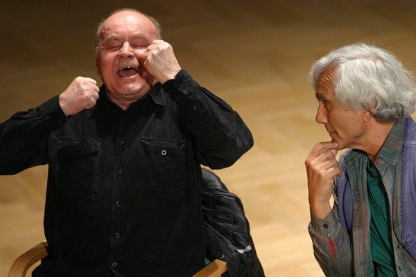 Od lewej: Zygmunt Molik, Eugenio Barba