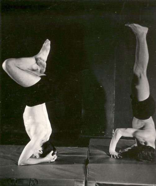 Mieczysław Janowski i Zygmunt Molik podczas ćwiczeń