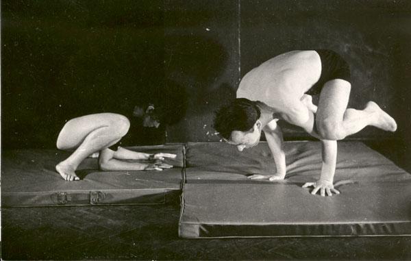 Rena Mirecka i Gaston Kulig podczas ćwiczeń