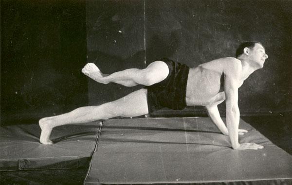 Antoni Jahołkowski podczas ćwiczeń
