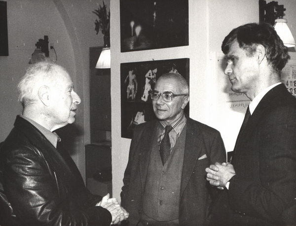 From left: Peter Brook, Józef Kelera, Zbigniew Osiński
