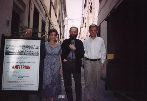 Od lewej: Stanisław Krotoski, Katarzyna Osińska, Anatolij Wasiljew, Zbigniew Osi