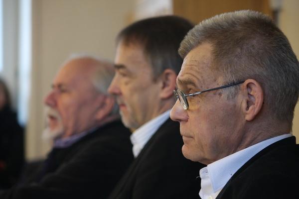 From left: Ludwik Flaszen, Zbigniew Majchrowski, Zbigniew Osiński