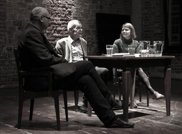 Od lewej: Dariusz Kosiński, Zbigniew Osiński, Monika Blige