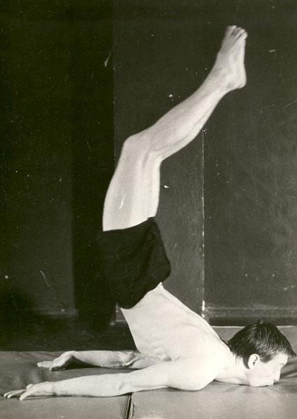 Ryszard Cieślak podczas ćwiczeń