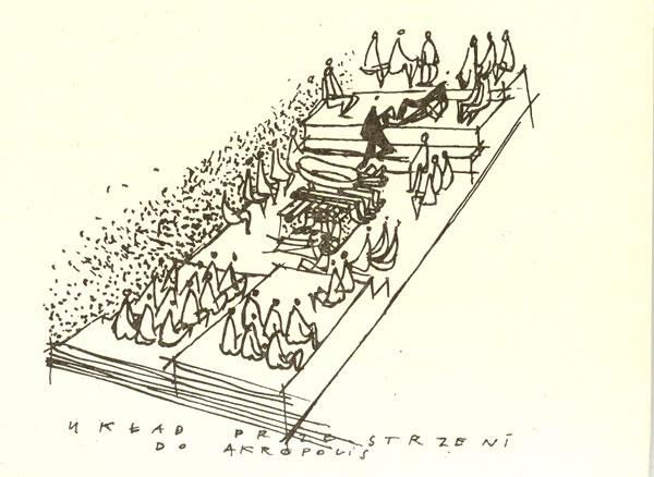 Jerzy Gurawski, szkic przestrzeni do Akropolis