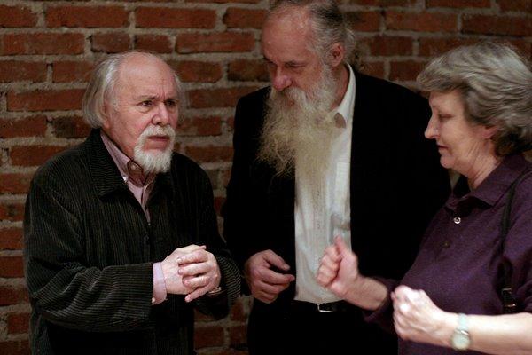 Od lewej: Ludwik Flaszen, Bruno Chojak, Jana Pilátová