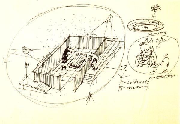 Jerzy Gurawski, szkic przestrzeni do Księcia Niezłomnego