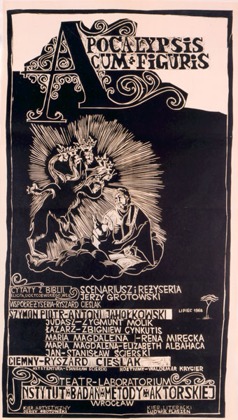"Poster for ""Apocalypsis cum Figuris"", 1968; author: Waldemar Krygier"