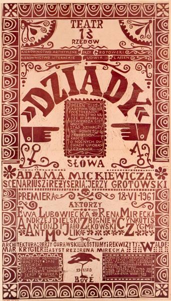 Plakat Dziady