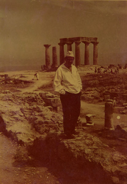 Jerzy Grotowski podczas wycieczki wokół Morza Śródziemnego