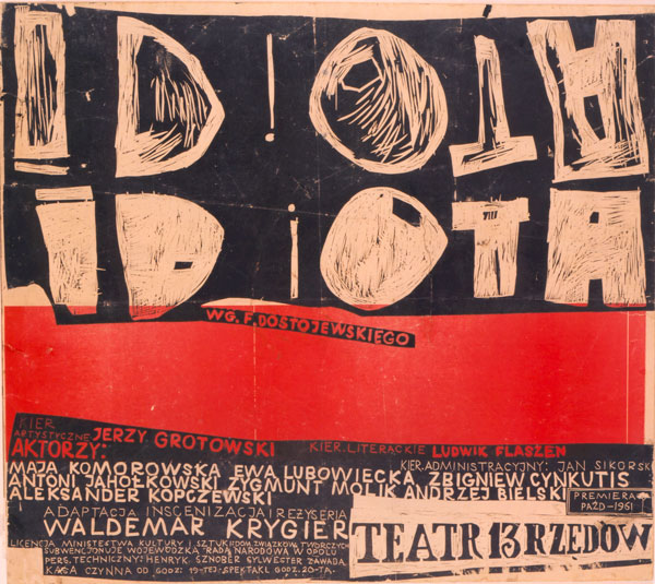 "Poster for ""Idiota"", 1961; author: Waldemar Krygier"
