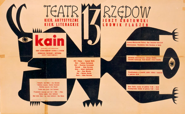 "Poster for ""Cain"", 1959; author: Jerzy Skarżyński"
