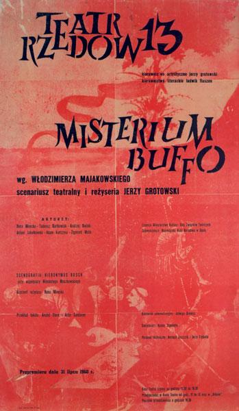 Plakat Misterium buffo wg. Włodzimierza Majakowskiego