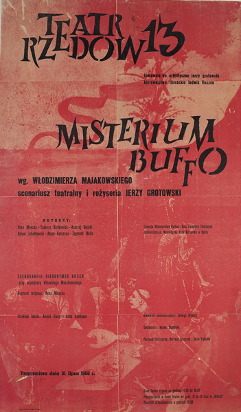 Plakat Misterium Buffo, 1960