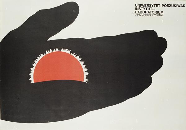Plakat Uniwersytetu Poszukiwań Teatru Narodów, 1975