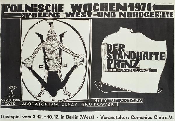 """Plakat do """"Księcia Niezłomnego"""" prezentowanego w Berlinie Zachodnim w ramach Pol"""