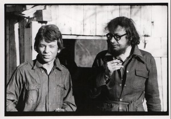 Zbigniew Kozłowski i Jerzy Grotowski w Brzezince, pierwsza połowa lat 70