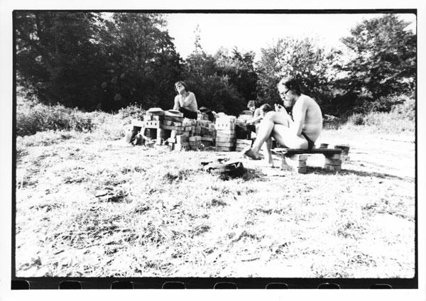 Ryszard Cieślak i Jerzy Grotowski w Brzezince, pierwsza połowa lat 70