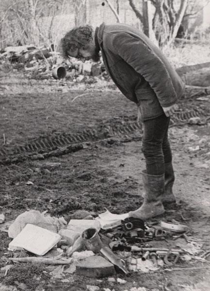 Jerzy Grotowski w Brzezince około 1972