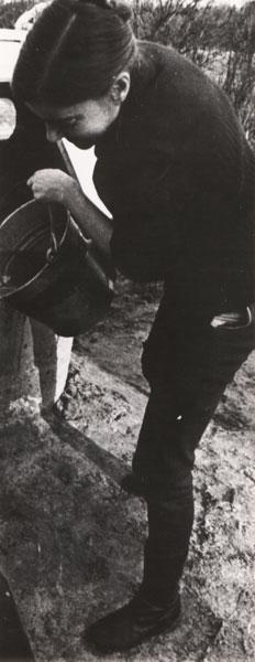 Irena Rycyk w Brzezince, pierwsza połowa lat 70