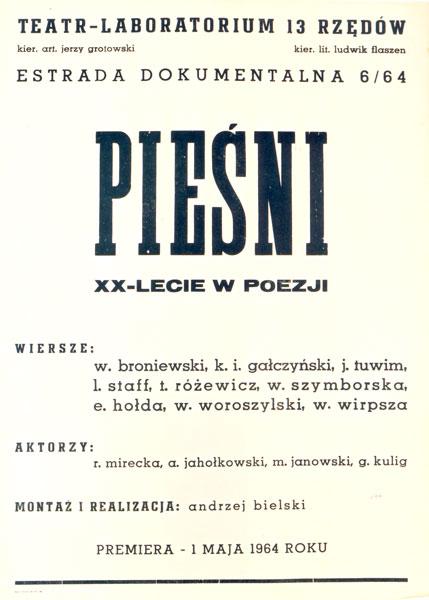 Afisz Pieśni. XX-lecie w poezji