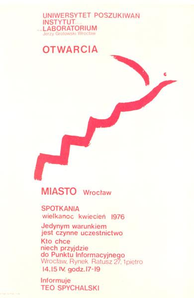 Plakat programu Otwarcia - miasto Wrocław Instytutu Laboratorium