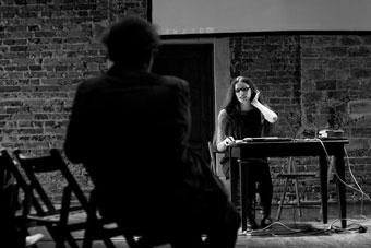 """Nina Karniej, konferencja """"Wielka? Reforma? Teatru?"""", Wrocław 7 czerwca 2013, fo"""