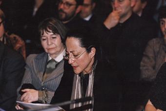 Michelle Kokosowski w czasie spotkanie w rocznicę powstania Teatru Laboratorium