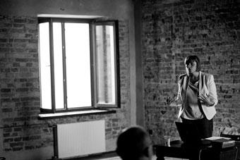 """Marta Przywara, konferencja """"Wielka? Reforma? Teatru?"""", Wrocław 7 czerwca 2013,"""