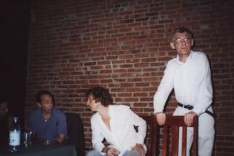 Thomas Richards, Mario Biagini i Zbigniew Osiński, spotkanie w Ośrodku