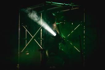 """""""Na Lightcie"""", akcja teatralna Grupy Korpuskularnej LightOff Grygier / Fibic"""