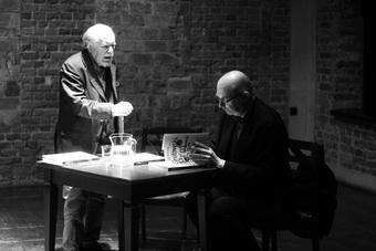 Ludwik Flaszen i Dariusz Kosiński, spotkanie poświęcone książce Dariusza Kos