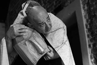 """""""Deus ex machina"""", spektakl Jacka Zawadzkiego; 22 maja 2017. Fot. Yousef Al Hosa"""