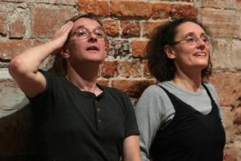 Janusz Subicz i Nazareth Panadero prowadzący warsztaty w Ośrodku